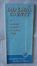 1973 AAA IMPERIAL COUNTY & Vicinities Road Map
