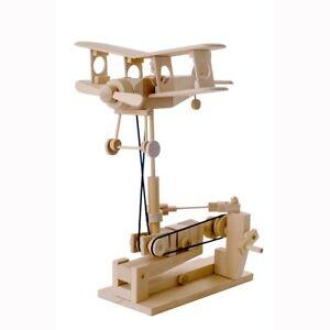 Timberkits Bi-Plane Kit - Wooden Moving Model Self Assembly Construction Gift