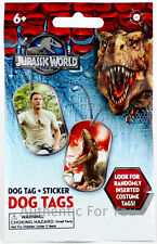 NEW 2015 Jurassic World Authentic SEALED Dog Tag MYSTERY Costume? Foil?