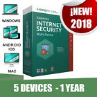 Kaspersky Internet Security Multi-device 2018 5 Pc devices 1 year Original