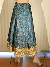 Little Birdy Studio - Handmade Silk Kimono / Sarong Type Magic Wrap Dress Skirt!