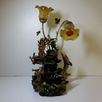 Sculpture lampe fontaine sirène dauphin style Art Déco fantaisie fait main N6142