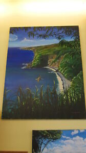 """""""Road to Hana"""" Shore View Oil Painting by Kirk Flood 27"""" x 51"""" - *Store Pick Up*"""