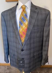 NEW Men's Shaquille O'Neal Gray Plaid Sports Coat Jacket Blazer Sz 50R Big XLG
