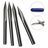 5Pcs 30° 3.175mm Shank Tungsten Carbide Double Flute Engraving Bits Set 0.4mm