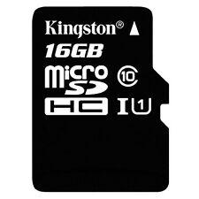 Memory Card Micro SD HCI 16GB Classe 10 45MB/s R T-Flash Kingston SDC10G2/16GB