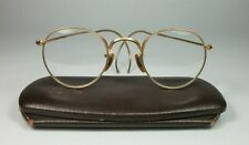 Bausch & Lomb Vintage Eye Glasses B&L 1/10 12k Gold Filled, Maroon Case