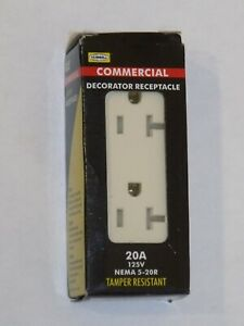 new Hubbell 20A 125V 5-20R Commercial Tamper Resistant Receptacle Light Almond