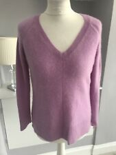 Pure Collection Lilac Purple Cashmere Knit Pullover Jumper Size 12