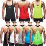 Men Gym Singlet Stringer Muscle Tank Tops Fitness Sport Shirt Y BACK Racer