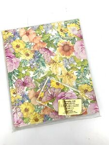 12 Pack Vintage 80's Floral Gift Wrap Wrapping Paper w/ Cards NOS 1980 Current