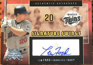 2005 Fleer America's National Pastime Signature Swings Silver Lew Ford SS-LF