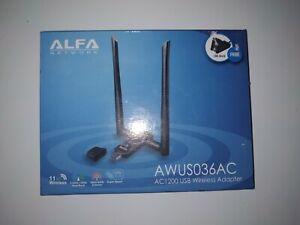 Alfa Network AWUS036AC AC1200 802.11ac Dual Band USB WiFi Wireless Adapter