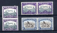 South Africa 2d & 1/- Bilingual LHM pairs #120a #107 #107b WS21378