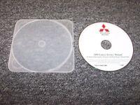 2008 Mitsubishi Lancer Workshop Shop Service Repair Manual DVD DE ES GTS 2.0L