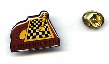Courrieres Chess Club FRANCE pin badge RARE les échecs