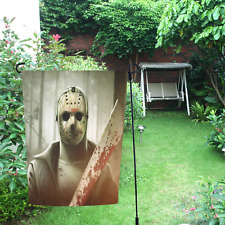 """Jason Voorhees Friday the 13th for Halloween Event Garden Flag 12"""" x 18"""""""