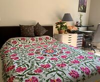 King Antique Thread-work Hand Embroidery bed spread