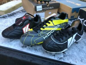 KOOGA ASSORTED MENS KIDS JNR RUGBY BOOTS  6 & 8 STUD SIZES FROM 4 - 13  BOYS MEN