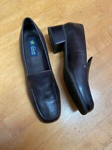 Clarks Springers Brown Leather Loafers Size 10 Medium Women's