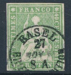 [54765] Switzerland LUXE classical stamp Used Very Fine Big margins