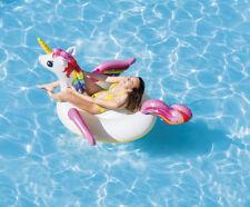 Einhorn Unicorn Schwimmtier Badeinsel Schwimminsel aufblasbar 201x140x97cm 57561