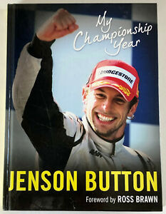 JENSON BUTTON SIGNED BOOK 'My Championship Year' - HB book - Genuine Autograph