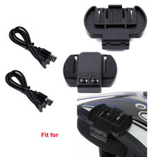 2PC Bracket Mount Clip + FDC USB Cable For TCOM-SC Motorcycle Bluetooth Intercom