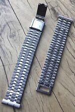 NSA Swiss ladies steel vintage watch bracelet ribbon link 12mm 13mm or 14mm ends