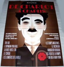 FROM CHARLOT TO CHAPLiN Charles Chaplin 2012 MK2 reissues  LARGE French POSTER