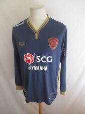 Raro camiseta de fútbol vintage MUANGTHONG UNIDO Gris talla XL