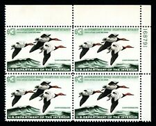 #RW32, $3 Canvasbacks, Plate block of 4, XF-OG-NH, sound, a GEM, 2020 Scott $450