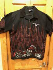 "Riders XL ""High Roller"" W/Flames Shirt Harley Davidson Star, etc.  FREE SHIPPING"