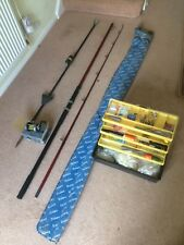 3.66 metre Daiwa Moonraker beachcaster graphite rod and accessories