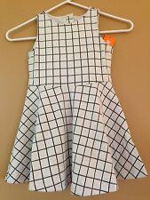 NWT Gymboree Girls Posh and Playful Windowpane Dress Full Skirt Size 4