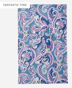 "NWT New Vera Bradley Plush Throw Blanket 80 x 50"" Waikiki Paisley"