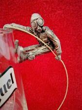 """Pewter """"Who Dares Wins"""" SAS Glass Hanging Abseiler Figure  - Hand Made Original"""