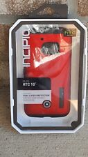 Original Incipio HTC 10 Dual Pro Dual Layer Hard Slim Case Cover - Red / Black