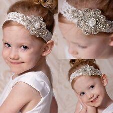 Rhinestone Newborn Baby Girls Infant Toddler Headband Hairband Photo Props BKB