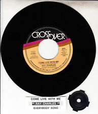 "RAY CHARLES  Come Live With Me & Everybody Sing 7"" 45 record NEW + jukebox strip"