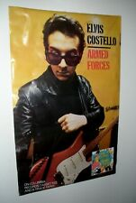 """Rare Vtg 1979 Elvis Costello Armed Forces Promo Poster! 24"""" x 37""""!"""