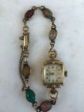 Rare LONGINES Working MANUAL GOLD 14K Jeweled WOMENs Ladies WATCH VTG