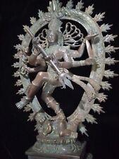 Lord Shiva Nataraja Hindu God Bronze Brass Statue God Meditation