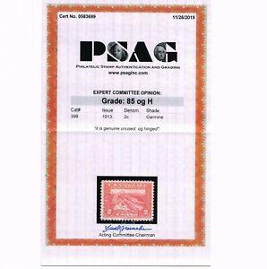 AFFORDABLE GENUINE SCOTT #398 F-VF MINT OG H PSAG CERT 2¢ PAN PACIFIC #14119