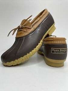 Vintage Bean Boots by LL Bean Duck Rubber Leather Lace Shoes Mens 9W 175061. NEW