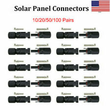 10/20/50/100 Pairs Male Female Wire Cable Connector Set Solar Panel Waterproof