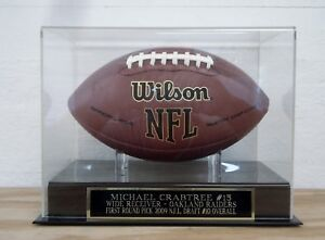 Michael Crabtree Football Case W/ An Oakland Raiders Engraved Nameplate
