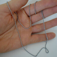 Silver Colour Steel Chain Metal Necklace Mens Womens Ladies Girls Boys Childrens