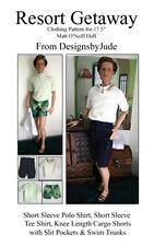 Resort Wear Doll Clothes Sewing Pattern Matt Rufus Sean , Tonner