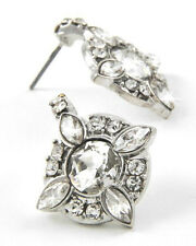 "CLEARANCE Vintage Inspired Art Deco ""Gatsby"" Crystal Earrings (Sparkle-1589)"